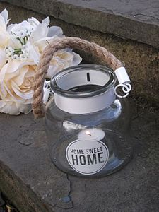 'Home Sweet Home' Candle Holder - lights & candles
