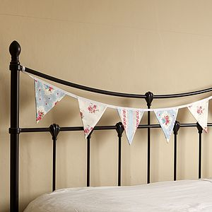 Country Floral Rose Bunting For Weddings Or Home - baby's room