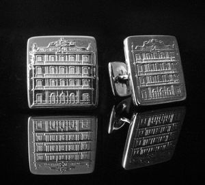 Partagas Cigar Factory Silver Cufflinks - men's sale