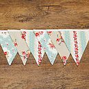 Country Floral Rose Bunting For Weddings Or Home