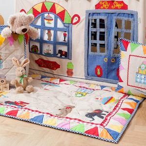 Hand Appliqued Play Mat - children's room accessories