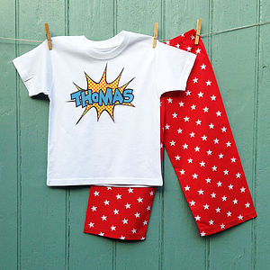 Personalised Super Hero Pyjama - nightwear