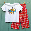 Personalised Super Hero Pyjama