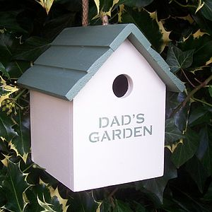 Dad's Garden Bird House - summer sale