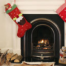 Large Red Christmas Pudding Stocking