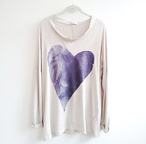 Purple/ Blue Sparkle Heart - jumpers & cardigans