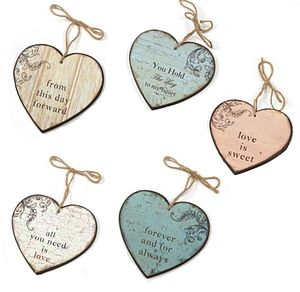 Vintage Heart Hanging Signs - parties