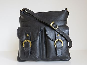 Leather Handbag Pocket Messenger Bag