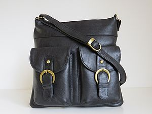 Leather Handbag Pocket Messenger Bag - handbags
