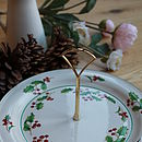 Christmas Holly Cake Plate