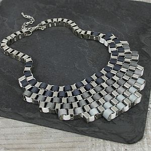 Multicolour Metal Weave Necklace - gifts under £50