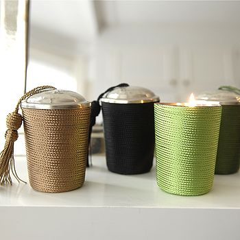 Corded Scented Candle With Lid