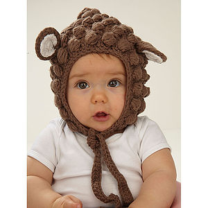 Tiny Bear Crochet Bonnet - babies' hats