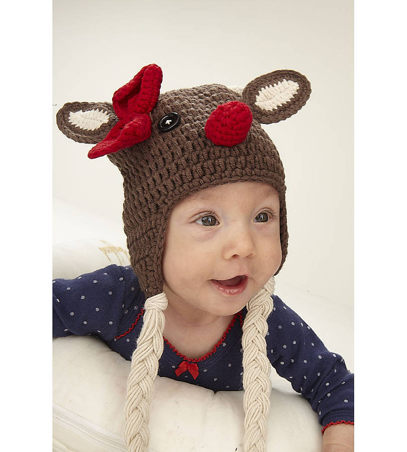 Christmas Reindeer Infant Crochet Hat  sc 1 st  Notonthehighstreet.com & christmas reindeer infant crochet hat by viv u0026 joe ...