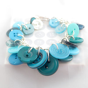 Handmade Button Charm Bracelets - women's jewellery