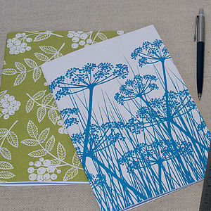Cow Parsley And Rowan Notebook Pack