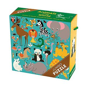 25 Piece Jumbo Animal Puzzle - board games & puzzles
