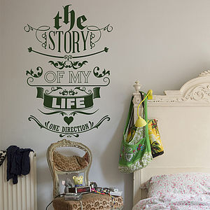 'The Story Of My Life' Wall Sticker - wall stickers