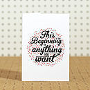 'Beginning' Typographical Print