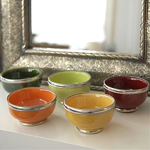 "Five Small Serving Bowls ""Marrakech'"