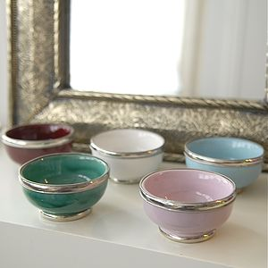 "Five Small Handmade Bowls ""Casablanca'"