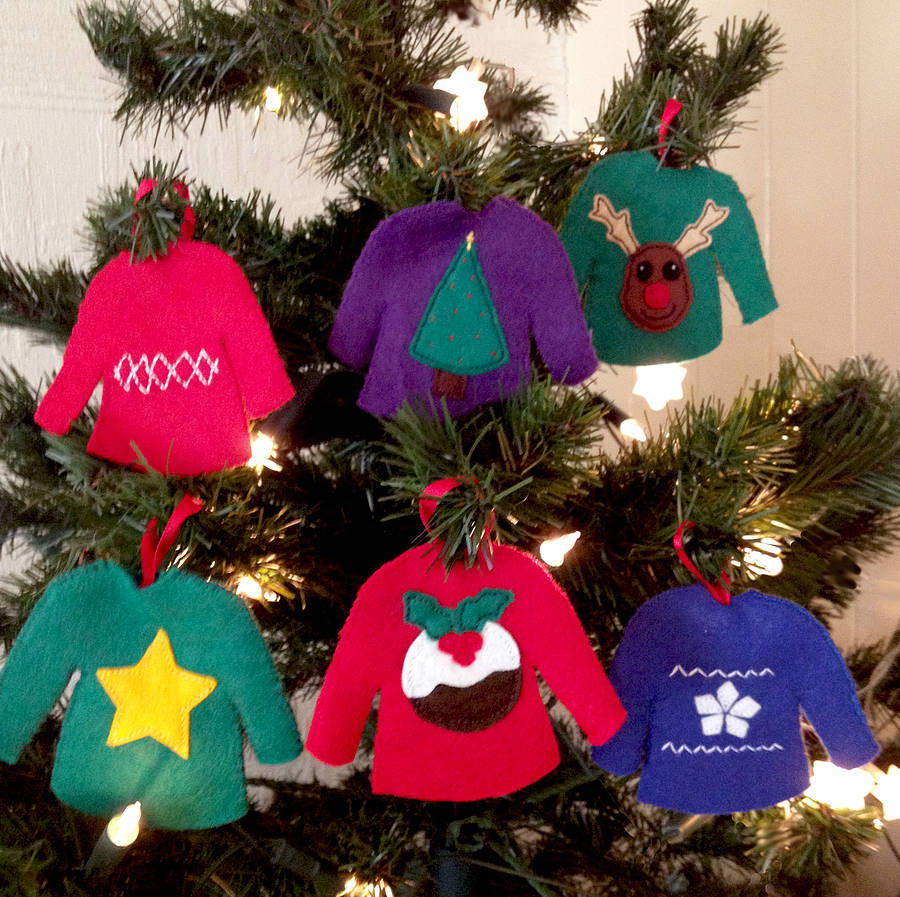 Make your own christmas jumpers decorations by sarah Make your own christmas bunting
