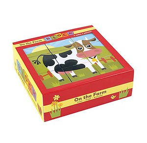 On The Farm Block Puzzle   Six Puzzles In One - toys & games
