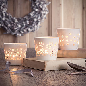 Ceramic Tea Light Holder - table decorations