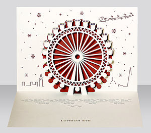 London Eye Pop Up Christmas Card - cards