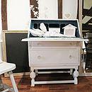 Vintage Painted Writing Bureau Desk