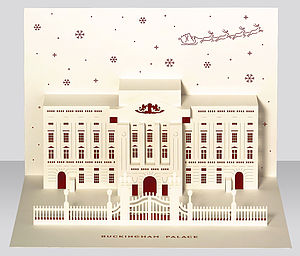 Buckingham Palace Pop Up Christmas Card - cards & wrap