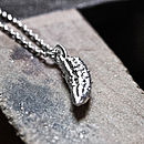 Silver Handcrafted Pickled Gherkin Necklace