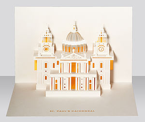 St. Paul's Cathedral Pop Up Card