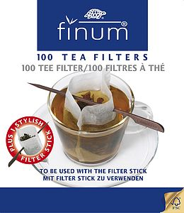 100 Tea/Coffee Filters + One Reusable Stick - tableware