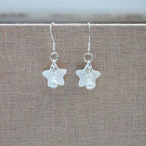 Mother Of Pearl and Crystal Earrings - jewellery