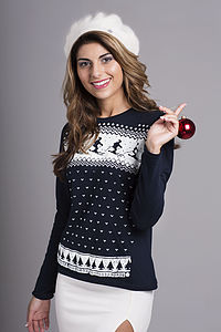 Glow In The Dark Ski Design Women's Top - christmas parties & entertaining