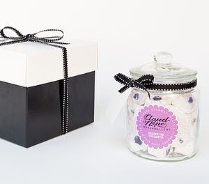 Gourmet Marshmallow Gift Jar - chocolates & confectionery