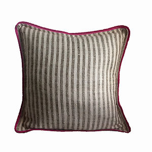 Grey Stripes Cushion Cover