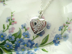 Secret Heart Locket Charm Necklace - necklaces & pendants