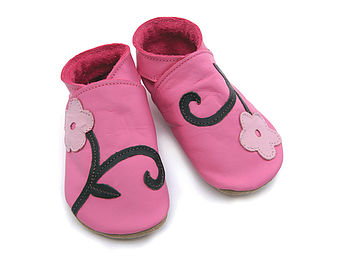 Leather Baby Shoes Orchid Pink