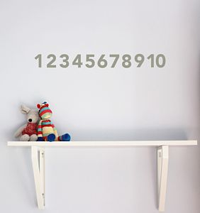 Numbers Wall Sticker - children's room