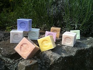 Set Of Three French Soaps Savon De Marseille - bath & body