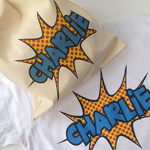 Super Bubble Personalised T Shirt - boys' bags & wallets