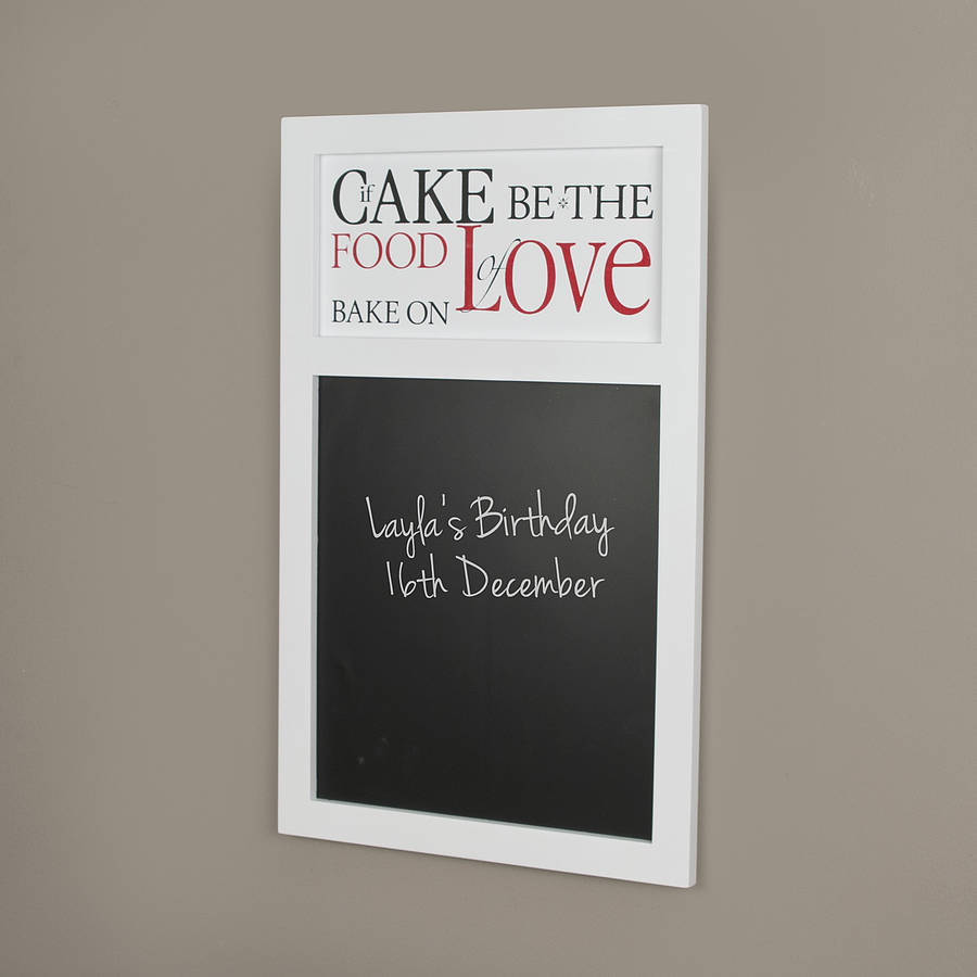 Food of love kitchen chalkboard by dibor for Kitchen chalkboard