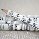 Personalised Sheet Music Pencil Set
