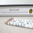 Sheet Music Pencil Set