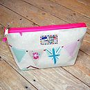 Bunting Union Jack Wash Bag Turquoise Pink Small