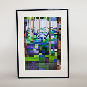Bluebell Wood Print - contemporary art