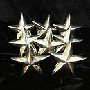 Vintage Set Of Eight Star Napkin Rings