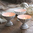 Three Fluted Metal Tealight Holders